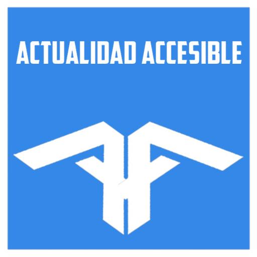 Lo más destacado. Logo Actualidad Accesible letras blancas fondo celeste